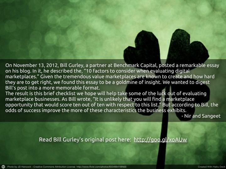 On november 13 2012 bill gurley a partner
