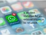 isanopen invitationforan externaltriggerto