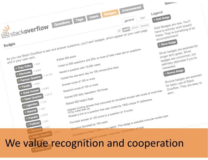 Wevaluerecognitionandcooperation