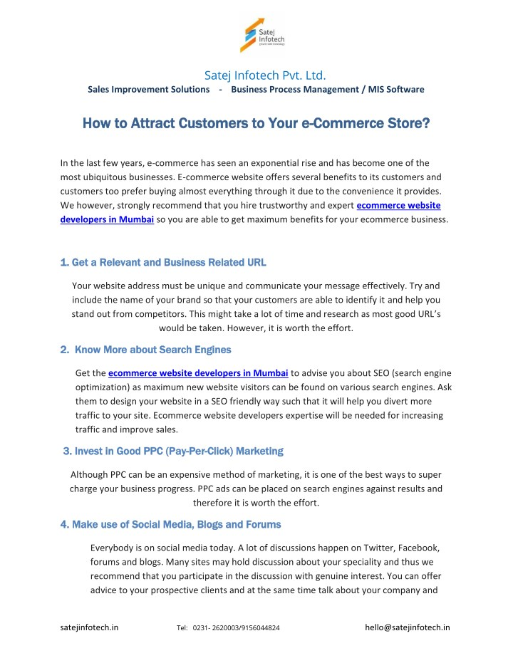PPT - How to Attract Customers to Your e-Commerce Store ...
