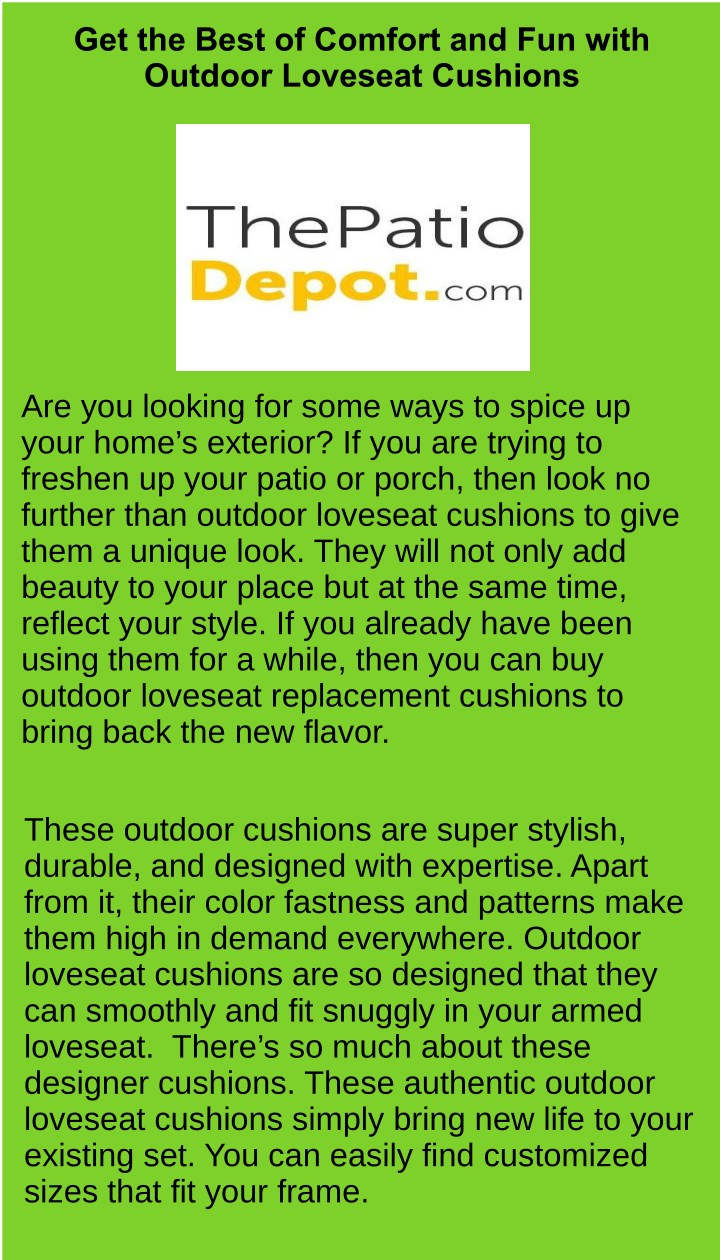 get the best of comfort and fun with outdoor n.