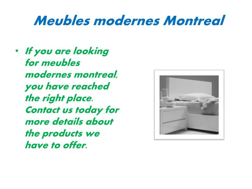 Ppt Meilleurs Magasins De Meubles Montreal Powerpoint Presentation