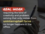 real work requiring the kind of creativity