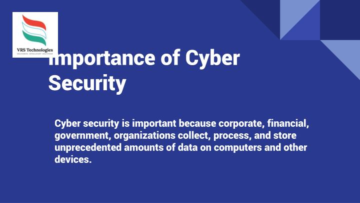 importance of cyber security essay The importance of cyber security by dave graveline december 4, 2017, 8:23 pm 0 comments the world we live in today is a highly globalized one.