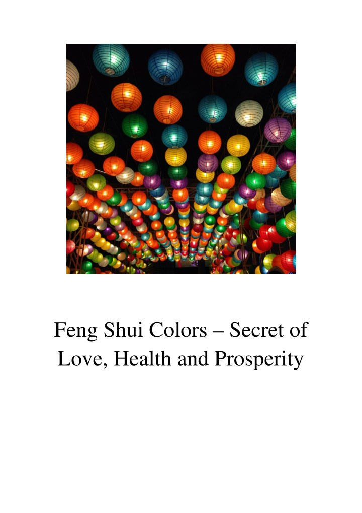 Ppt Feng Shui Colors Secret Of Love Health And