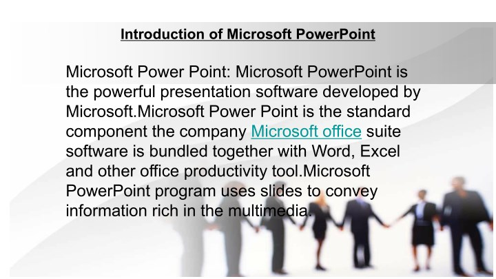 introduction of microsoft powerpoint n.
