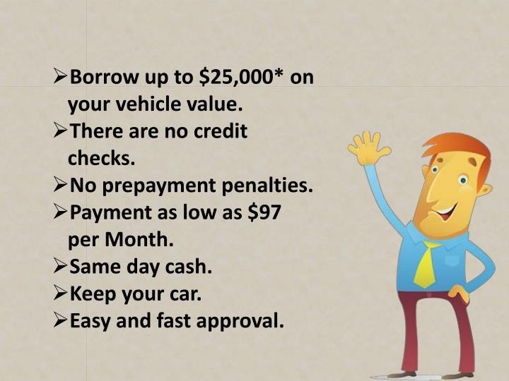 How Can I Borrow Money Against My Car Title