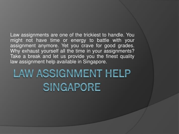 Get Help with Assignments Singapore