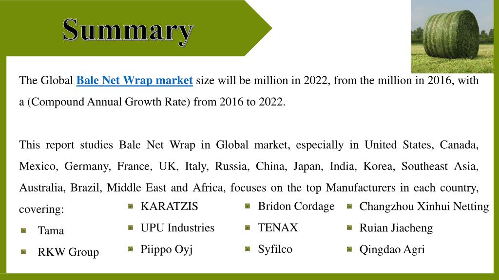 PPT - Global Bale Net Wrap Market PowerPoint Presentation