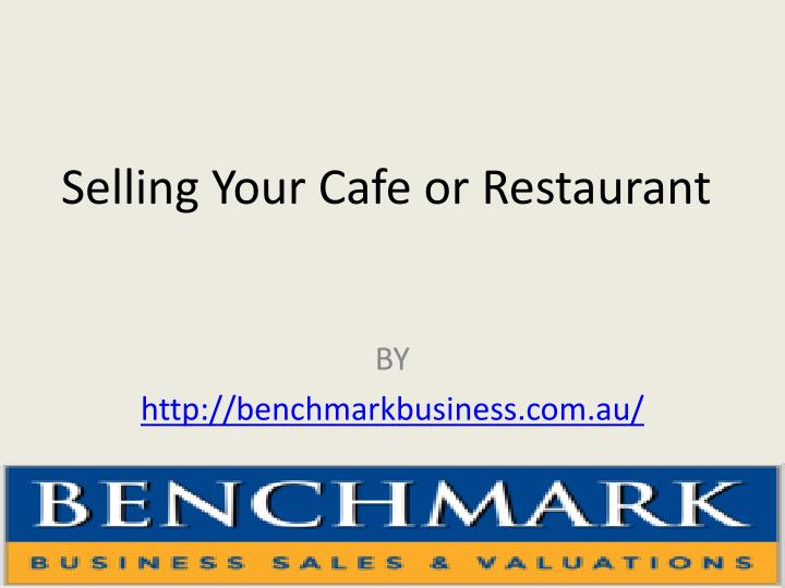 selling your cafe or restaurant n.