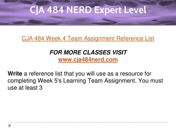 cja 484 week 5 learning