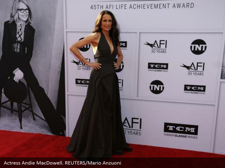 Actress Andie MacDowell. REUTERS/Mario Anzuoni
