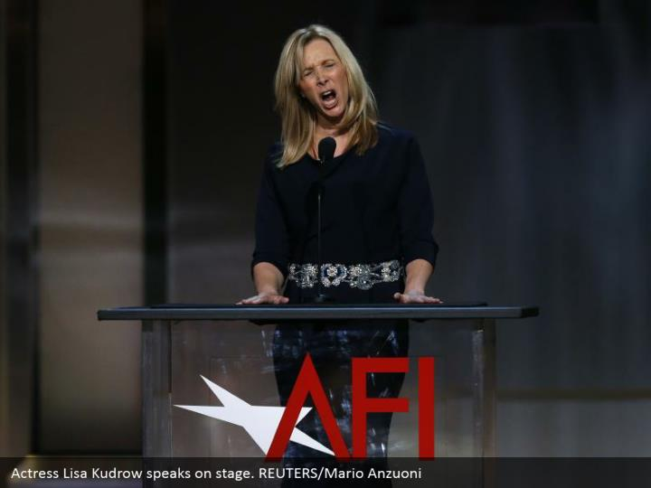 Actress Lisa Kudrow speaks on stage. REUTERS/Mario Anzuoni
