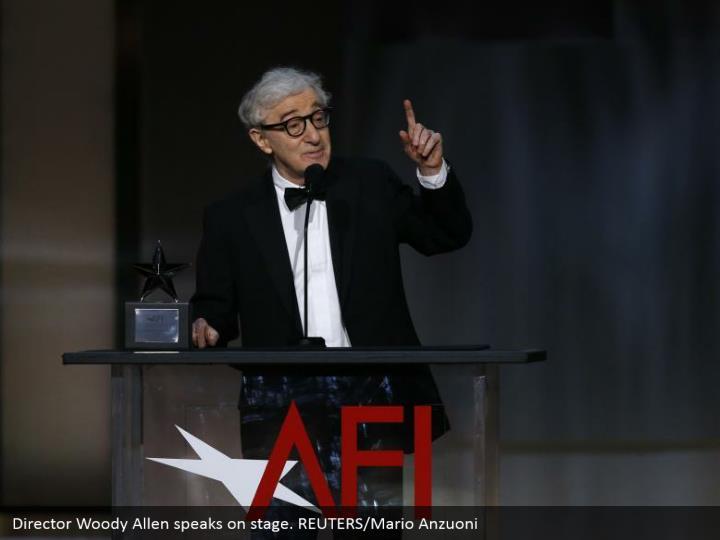Director Woody Allen speaks on stage. REUTERS/Mario Anzuoni