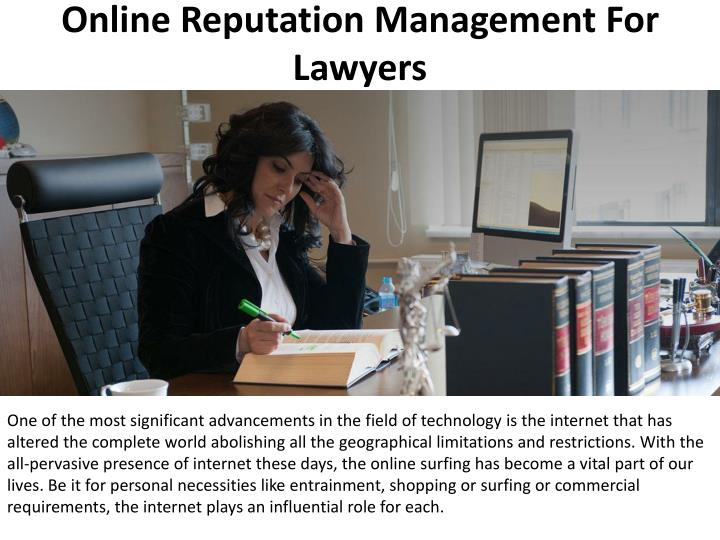 online reputation management for lawyers n.
