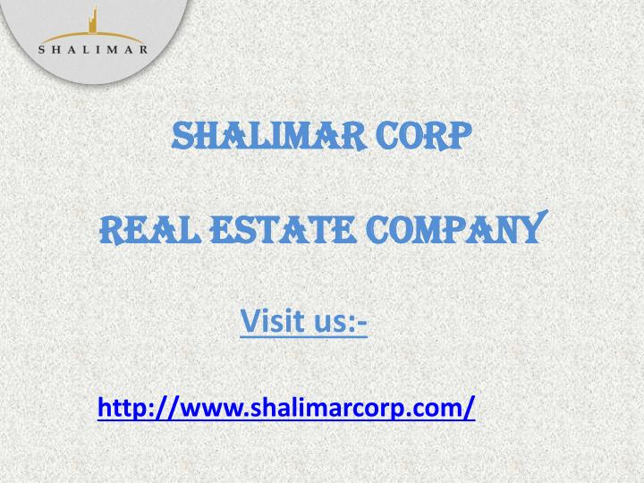 shalimar corp real estate company n.