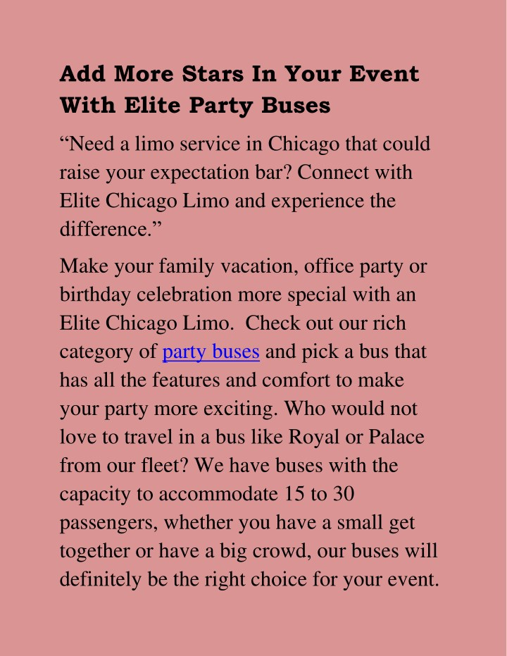 add more stars in your event with elite party n.