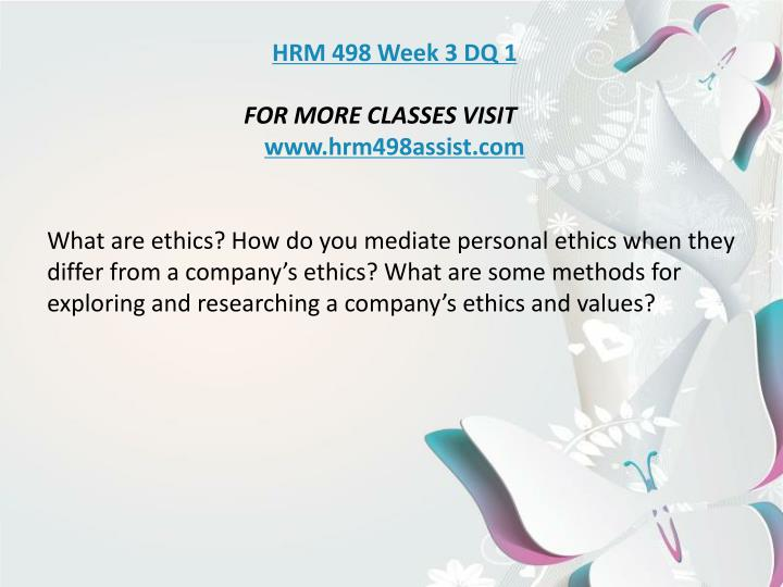 hrm 498 week 1 individual assignment