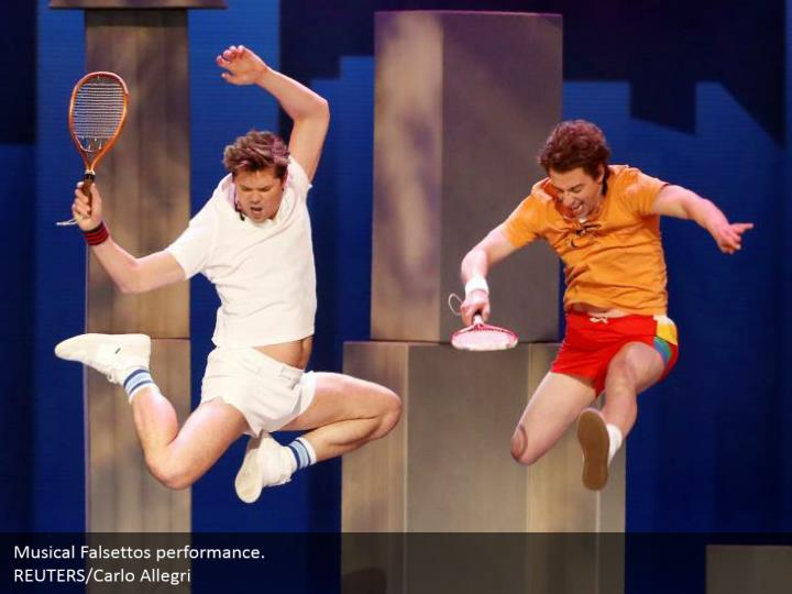 Musical Falsettos performance.  REUTERS/Carlo Allegri