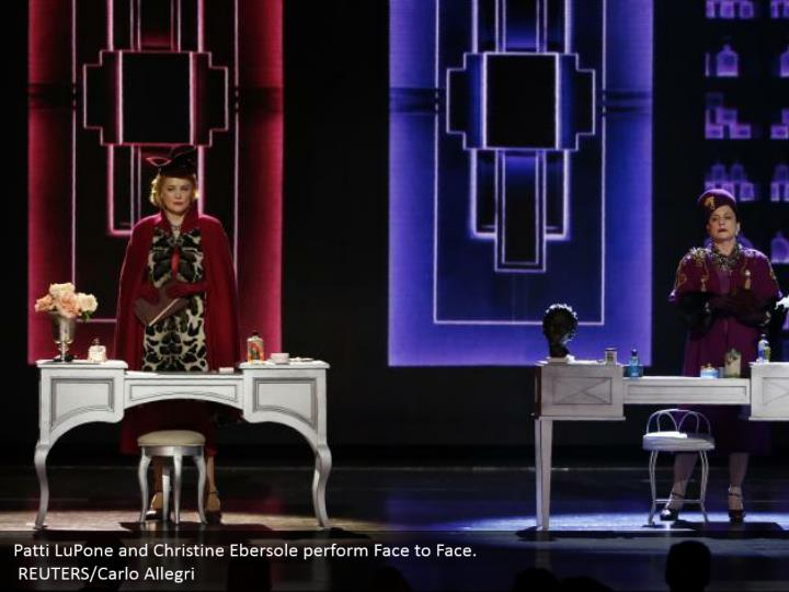 Patti LuPone and Christine Ebersole perform Face to Face.  REUTERS/Carlo Allegri