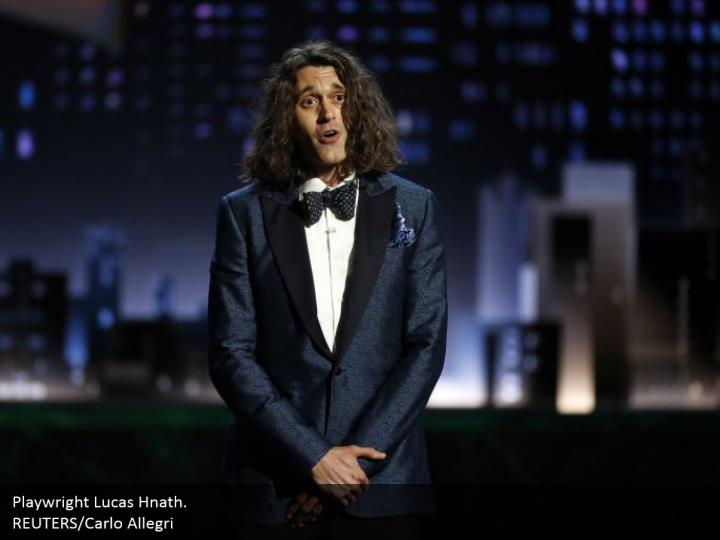 Playwright Lucas Hnath.  REUTERS/Carlo Allegri