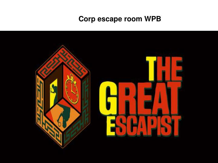 Corp escape room WPB