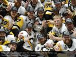 pittsburgh penguins players pose for a team photo