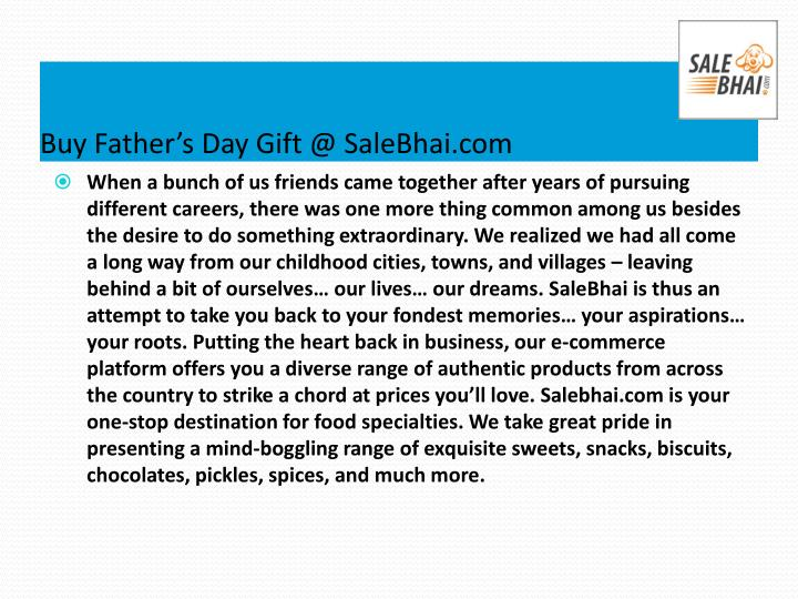 Buy Father's Day Gift @ SaleBhai.com