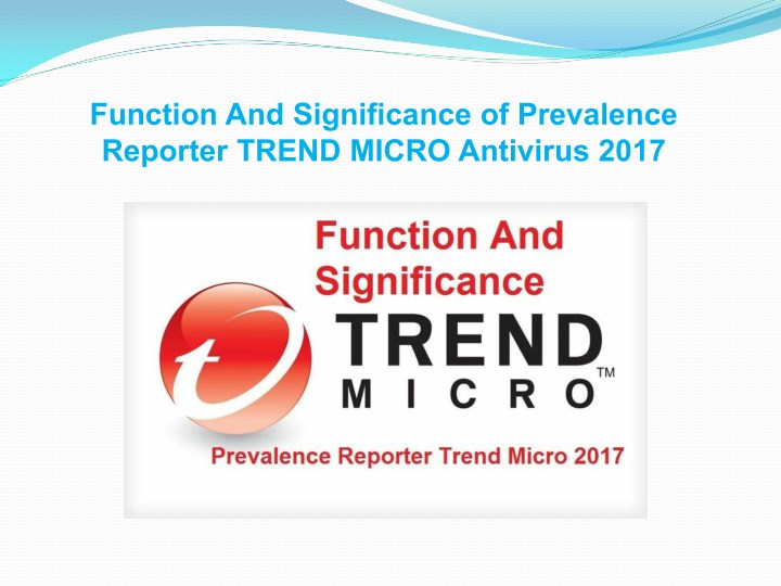 function and significance of prevalence reporter n.