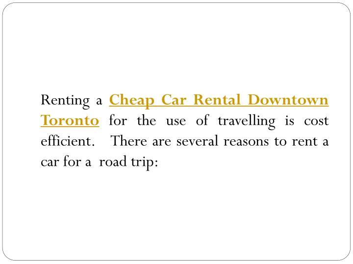 Cost Of Renting A Car Trip