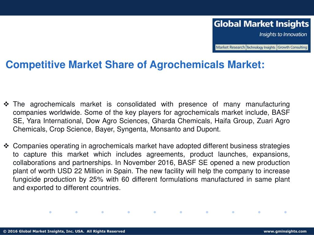 PPT - Agrochemicals Market share, applications