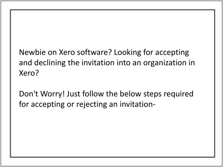 how to send an invitation on xero
