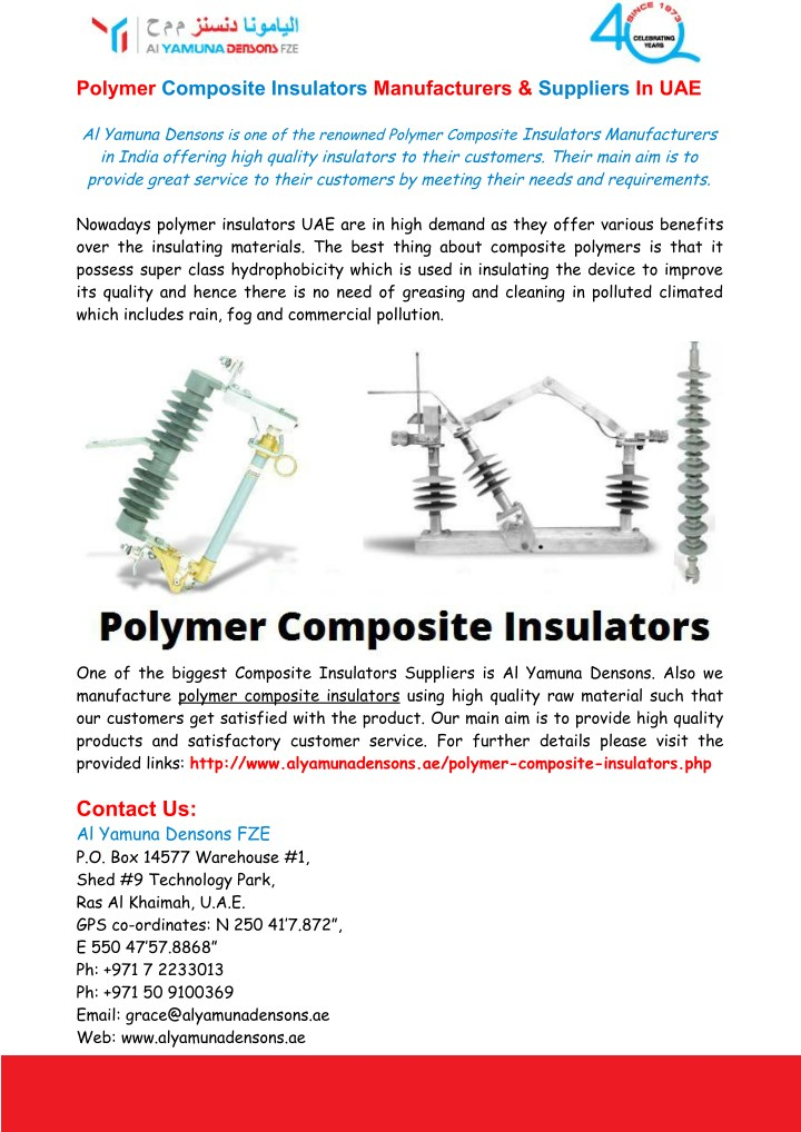 PPT - Polymer Composite Insulators Manufacturers & Suppliers In UAE