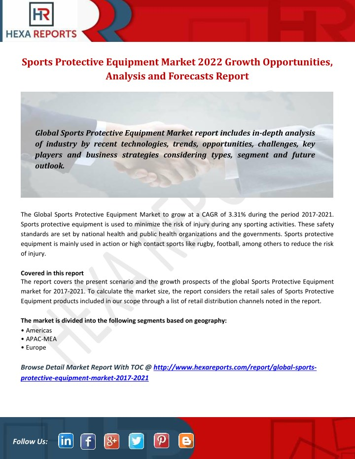 PPT - Sports Protective Equipment Market 2021 Growth Opportunities