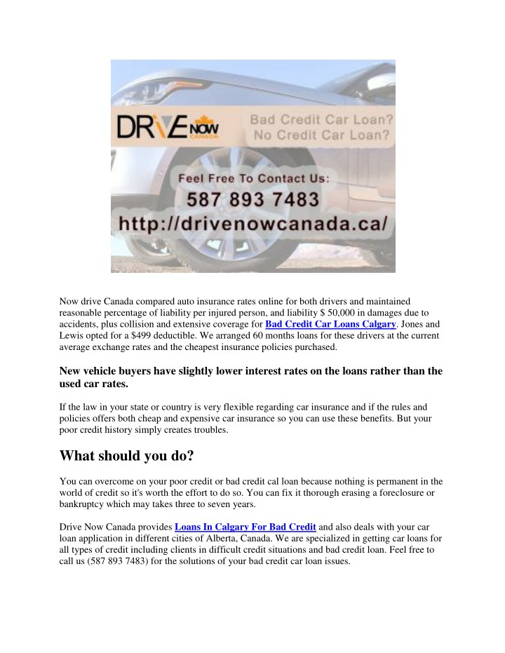 Current Used Car Interest Rates Canada