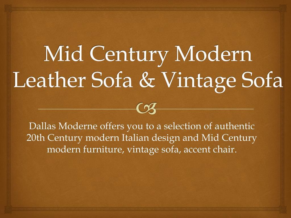 Ppt Mid Century Modern Leather Sofa Vintage Sofa