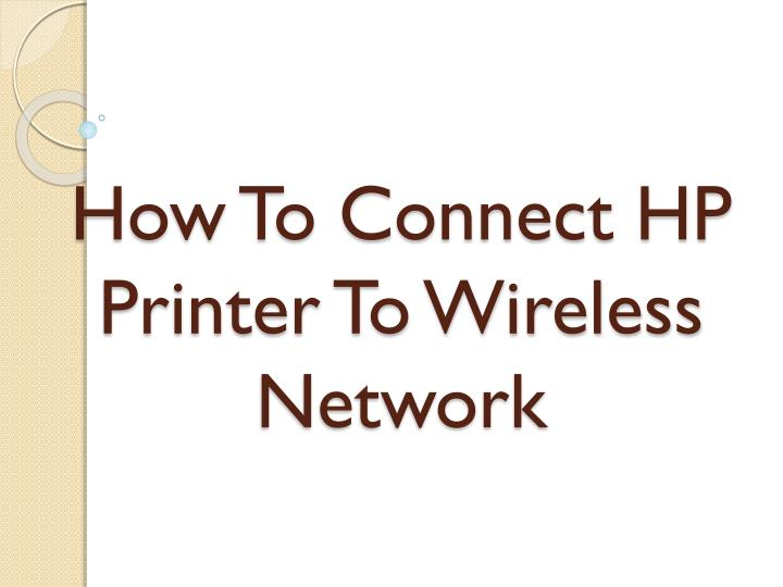 how to connect hp printer to wireless network n.