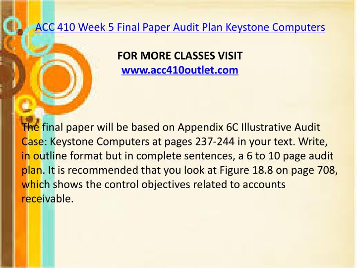 keystone computers network inc audit plan