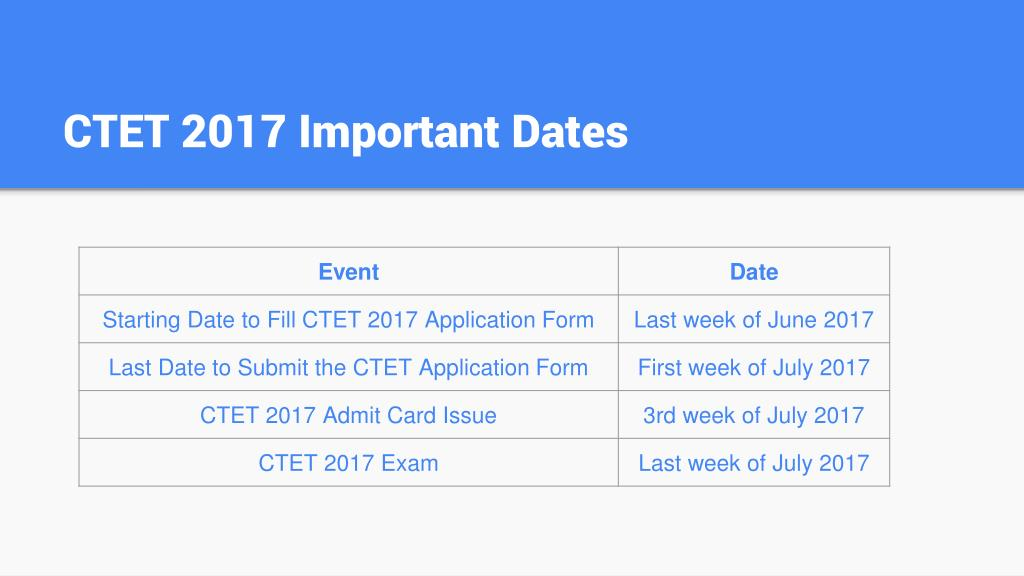ctet-2017-important-dates-l Cbse Ctet Application Form on income tax, pennsylvania state tax,