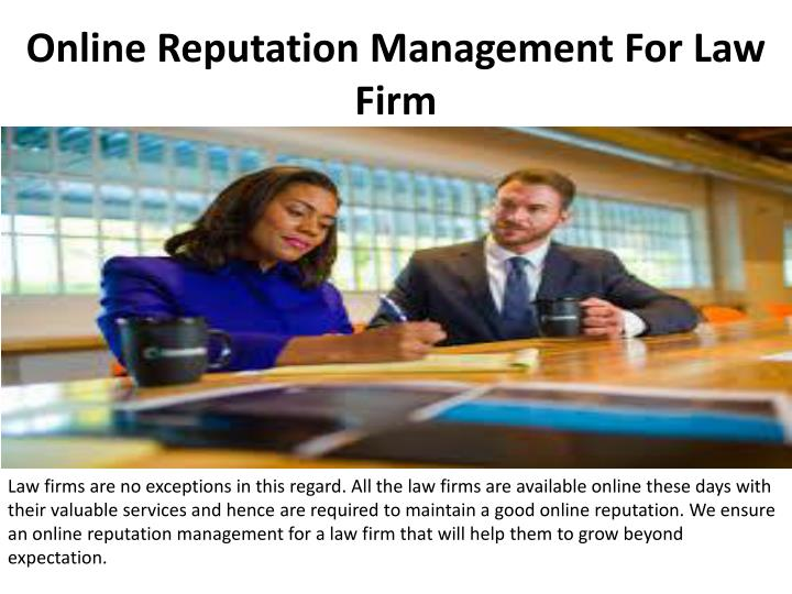 online reputation management for law firm n.