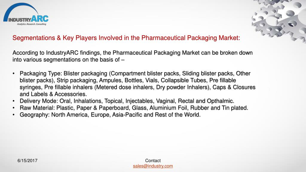 PPT - Pharmaceutical Packaging Market Expects Transition to