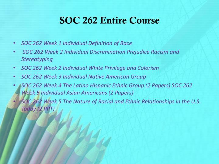 soc 262 new to america paper Study soc 262 new,uop soc 262 new,uop soc write a 1,050- to 1,400-word paper discussing the current while a distinct minority, surpass whites in america.