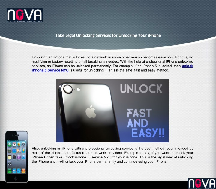 unlocking an iphone that is locked to a network n.