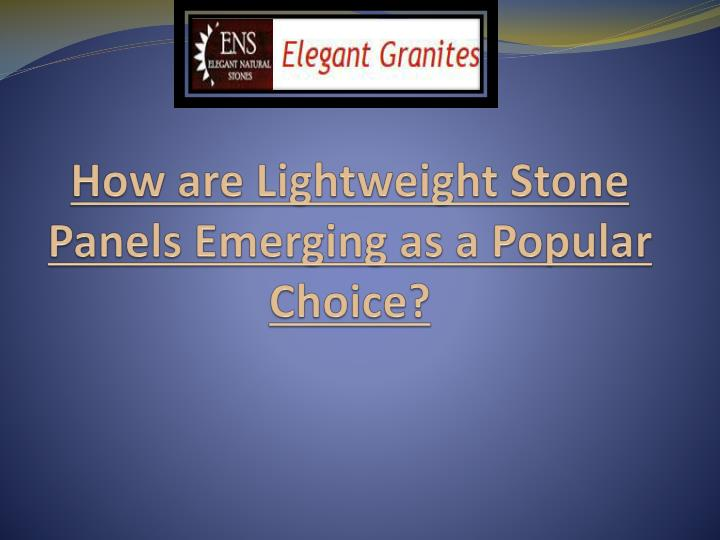 how are lightweight stone panels emerging as a popular choice n.