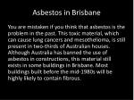 asbestos in brisbane