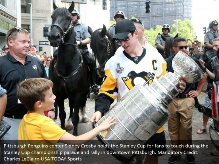 Pittsburgh penguins center sidney crosby holds