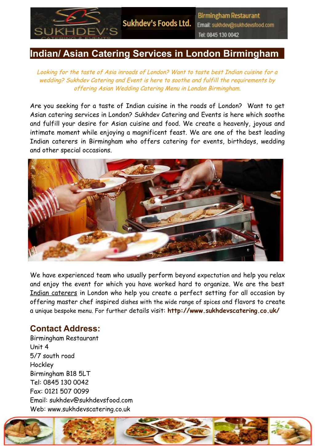 Asian catering london