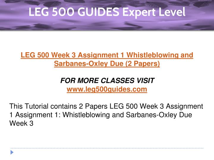 leg 500 paper 1 Open document below is an essay on leg 500 part 2 from anti essays, your source for research papers, essays, and term paper examples.