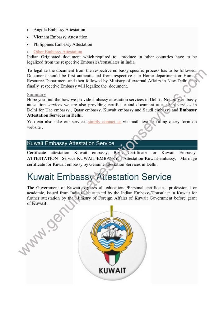 angola embassy attestation