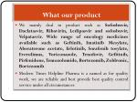 what our product